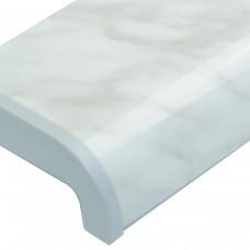 Подоконник ПВХ Sauberg цвет мрамор глянец - Фото 1